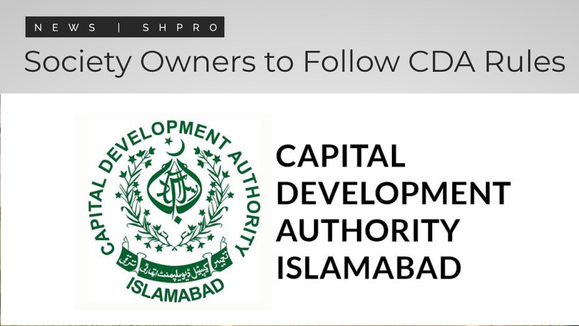 Owners of societies strongly encouraged to follow CDA regulations