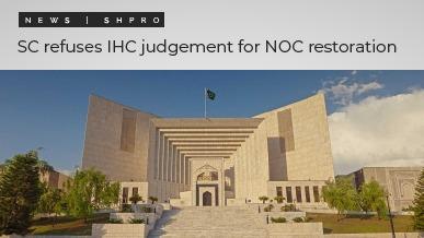 SC refuses IHC judgement for NOC restoration
